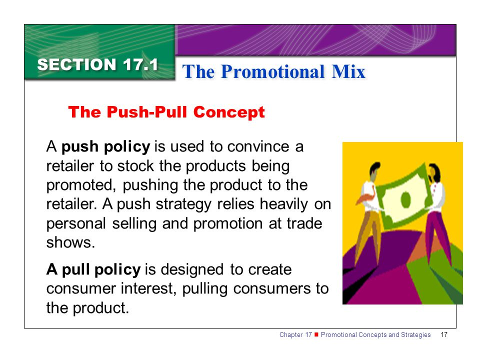 The Promotional Mix SECTION 17.1 The Push-Pull Concept
