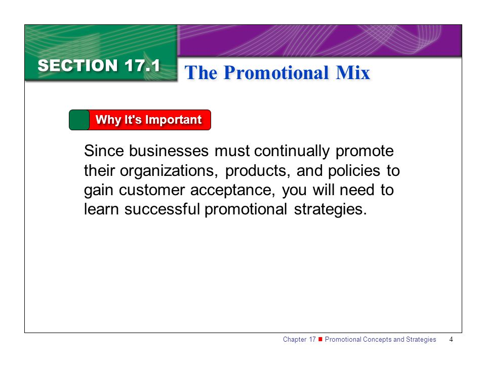 The Promotional Mix SECTION 17.1