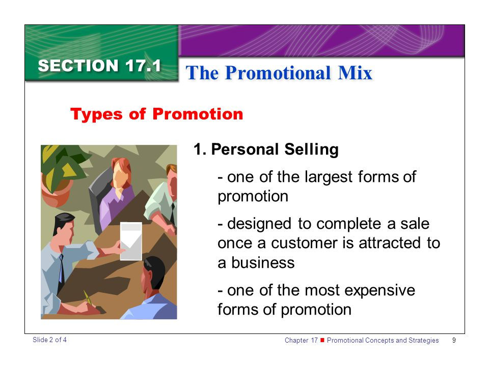 The Promotional Mix SECTION 17.1 Types of Promotion