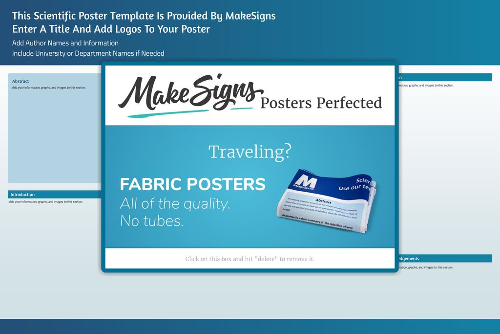 This Scientific Poster Template Is Provided By MakeSigns Enter A Title And Add Logos To Your Poster