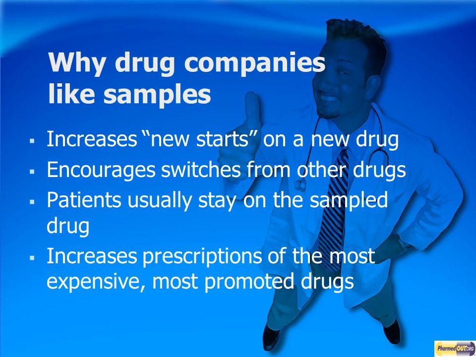Why drug companies like samples