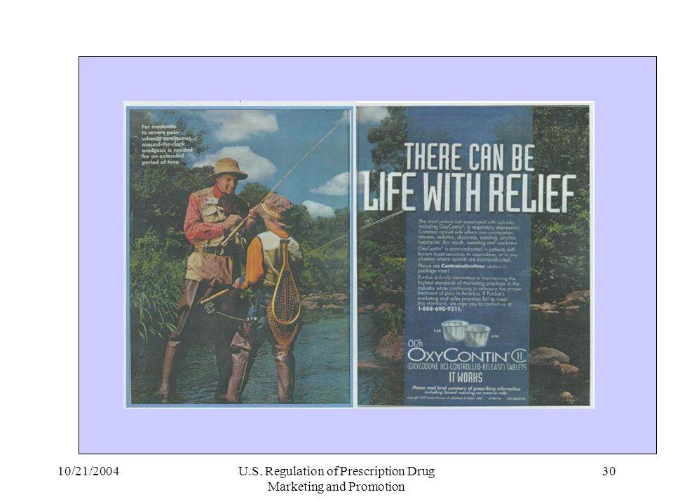 U.S. Regulation of Prescription Drug Marketing and Promotion