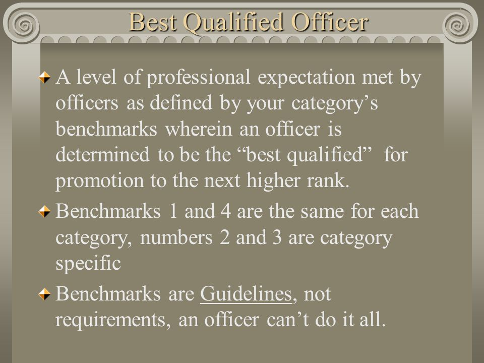 Best Qualified Officer