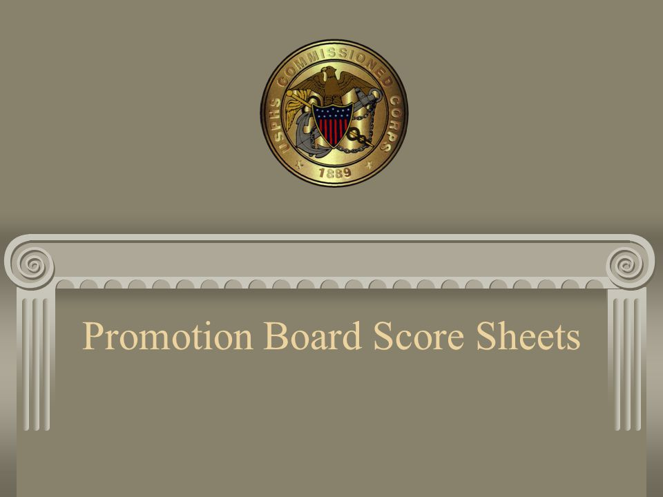 Promotion Board Score Sheets