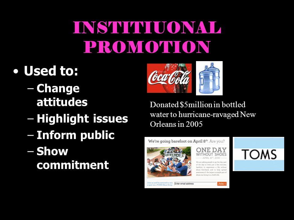 INSTITIUONAL PROMOTION