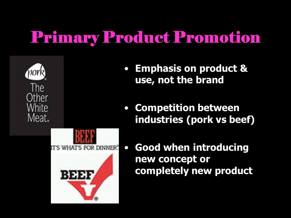 Primary Product Promotion
