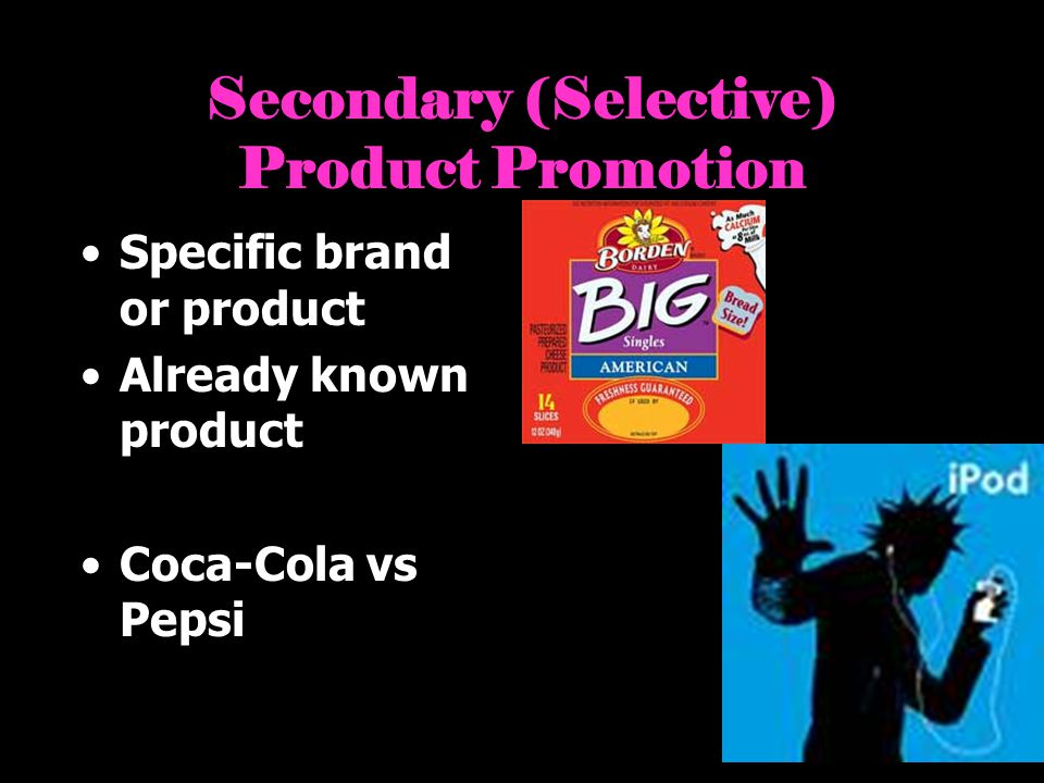 Secondary (Selective) Product Promotion
