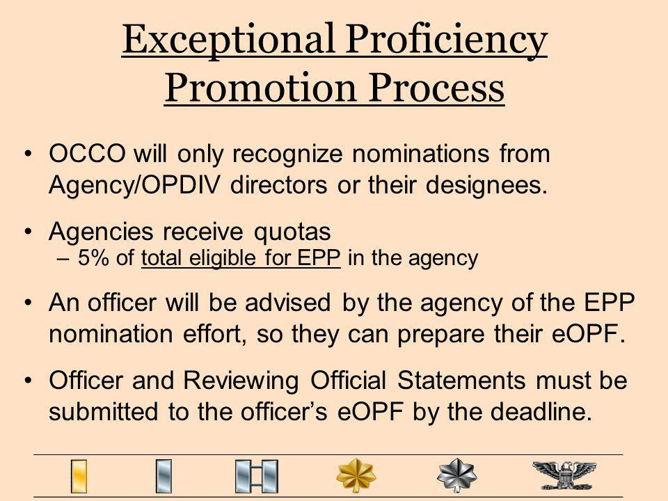 Exceptional Proficiency Promotion Process