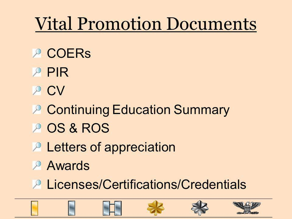Vital Promotion Documents