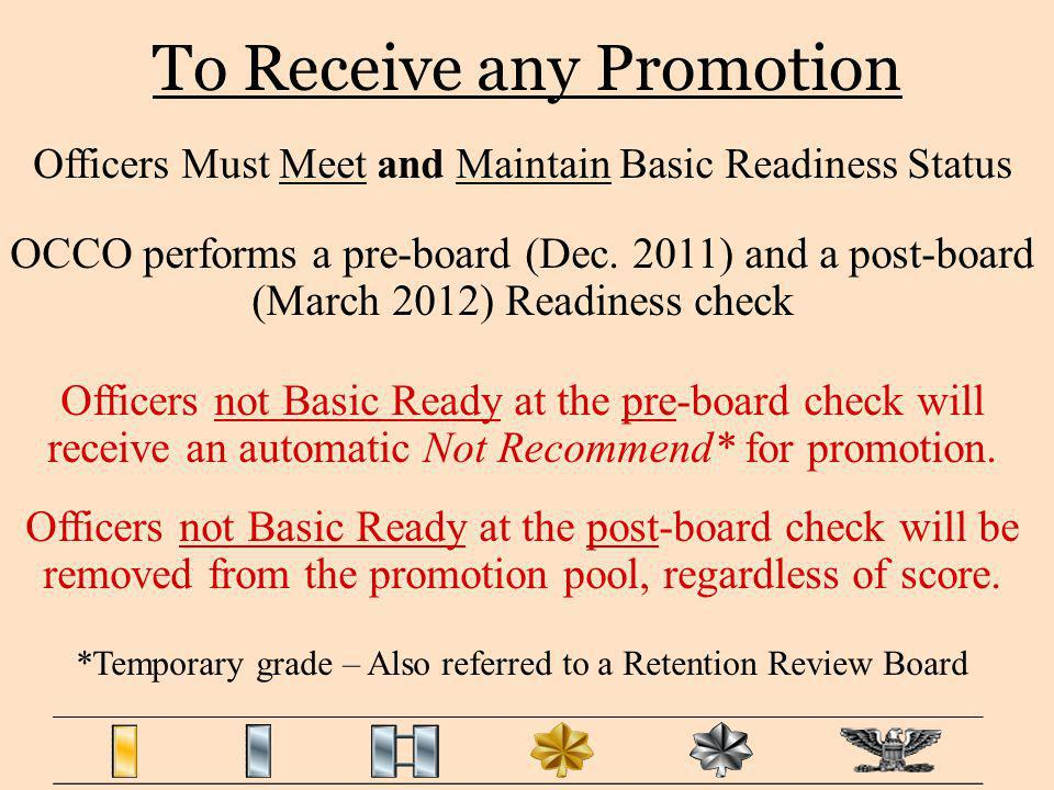 To Receive any Promotion