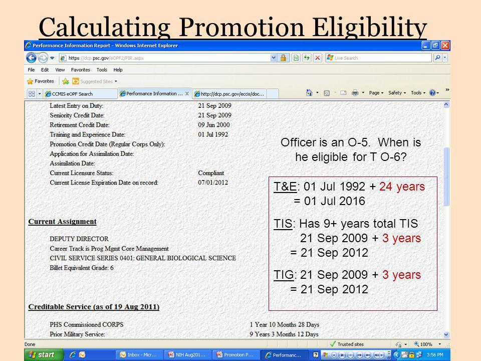 Calculating Promotion Eligibility