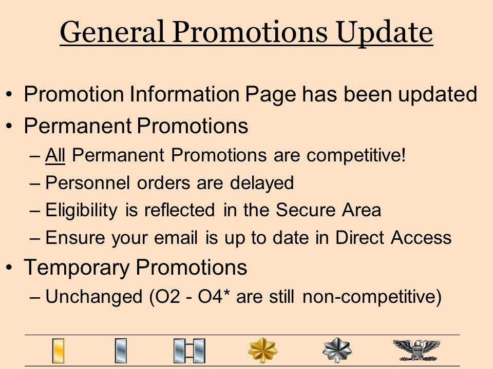 General Promotions Update