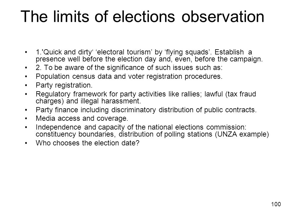 The limits of elections observation