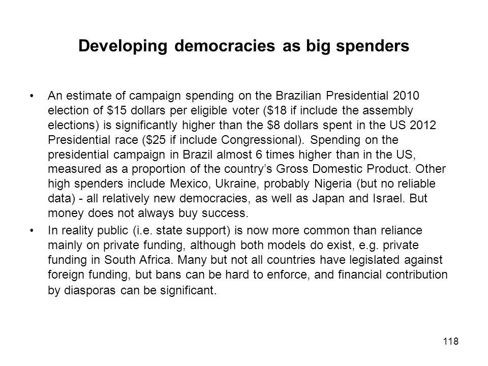 Developing democracies as big spenders