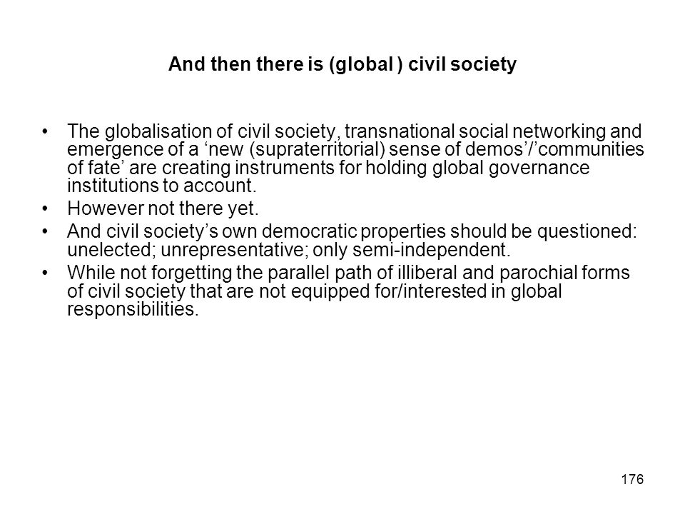 And then there is (global ) civil society