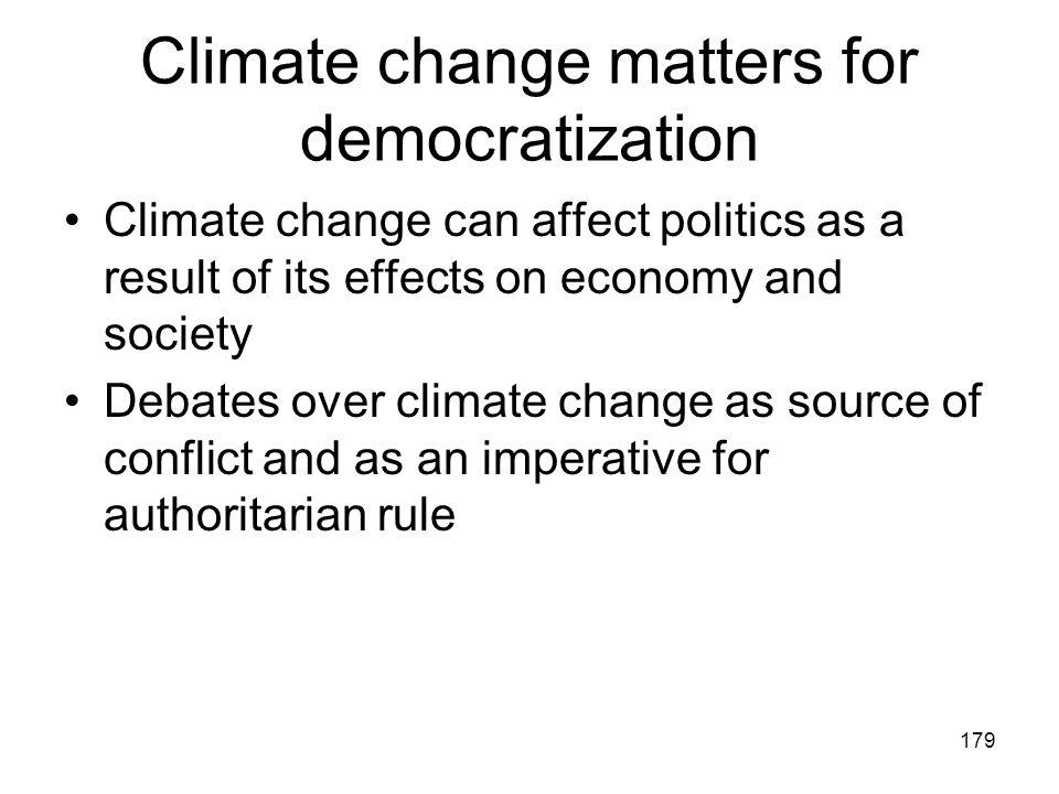 Climate change matters for democratization