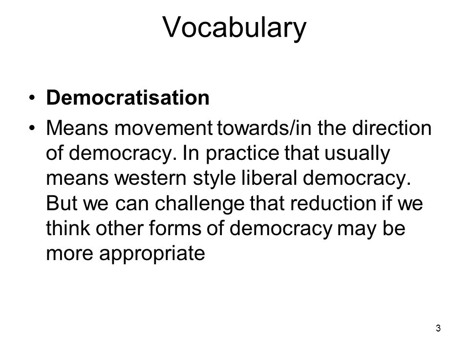 Vocabulary Democratisation
