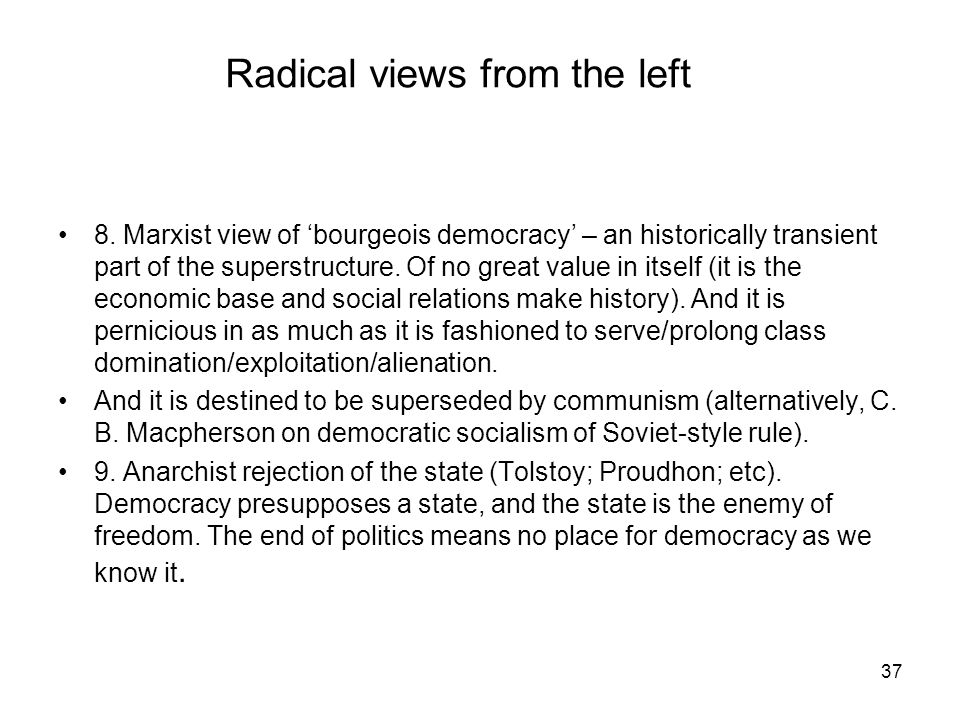 Radical views from the left