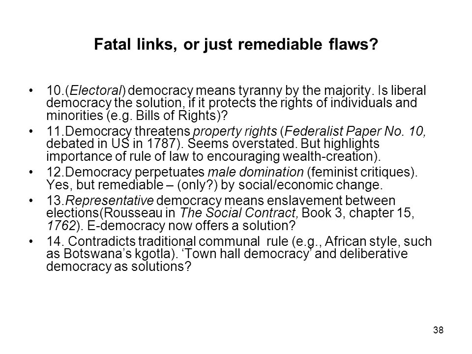 Flaws of democracy essays on the great