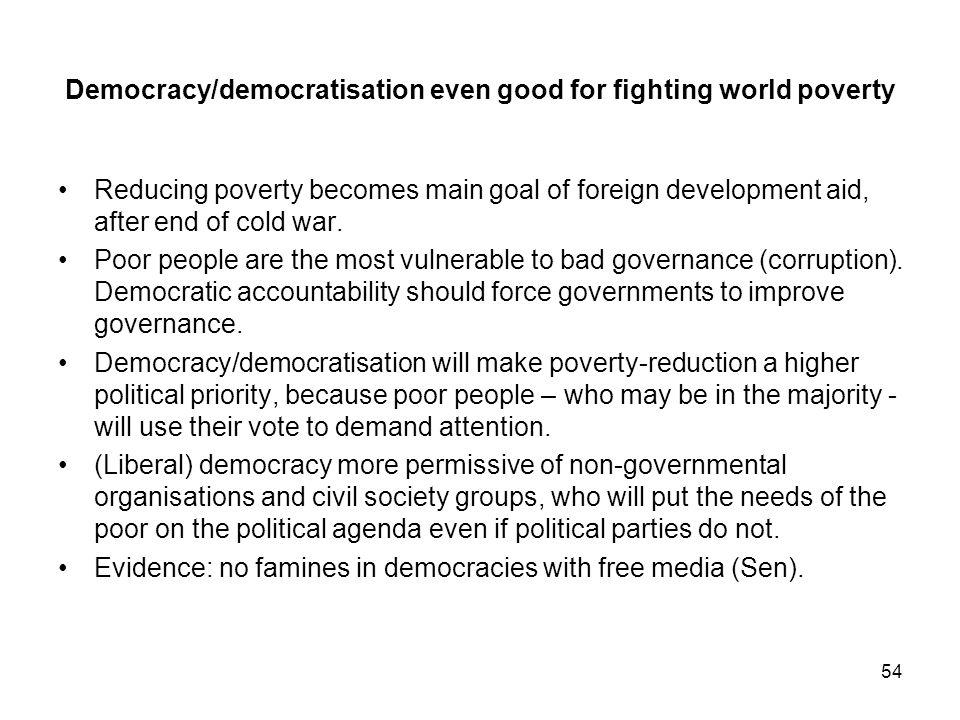 Democracy/democratisation even good for fighting world poverty