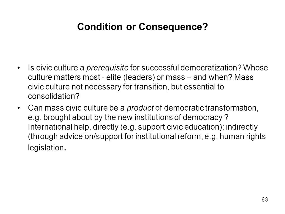 Condition or Consequence