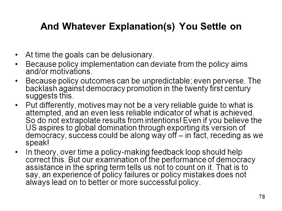 And Whatever Explanation(s) You Settle on