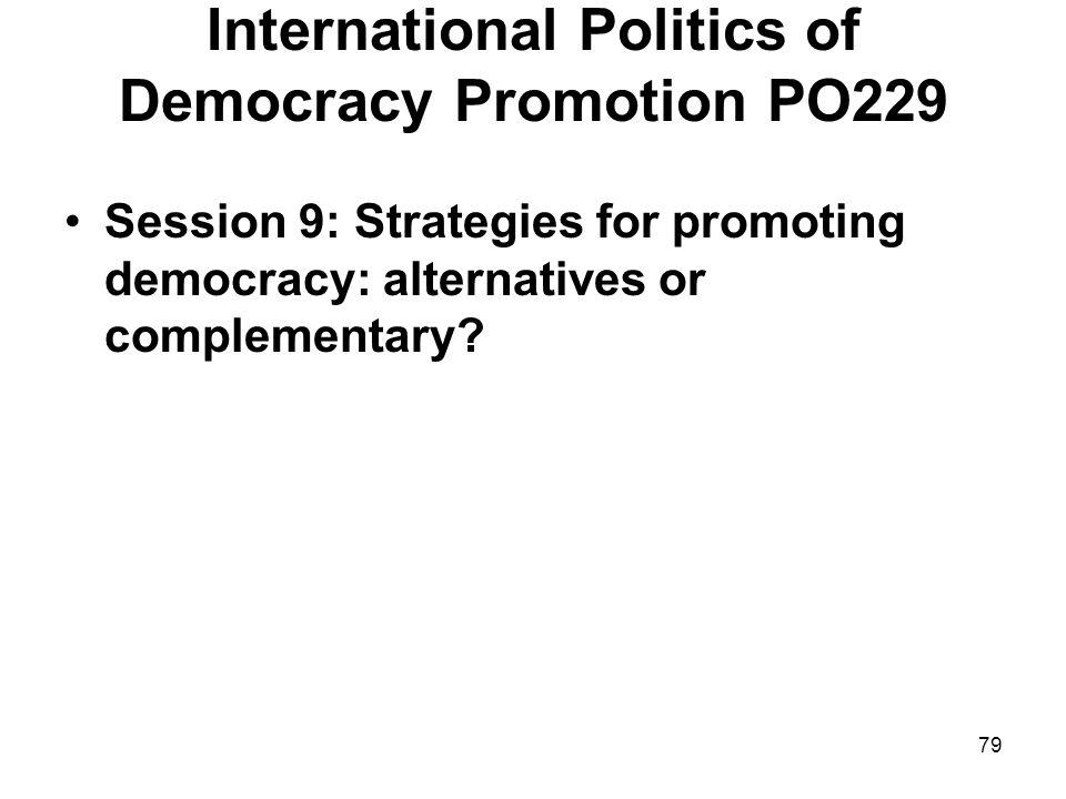 International Politics of Democracy Promotion PO229