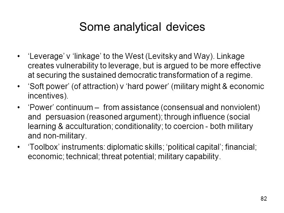 Some analytical devices