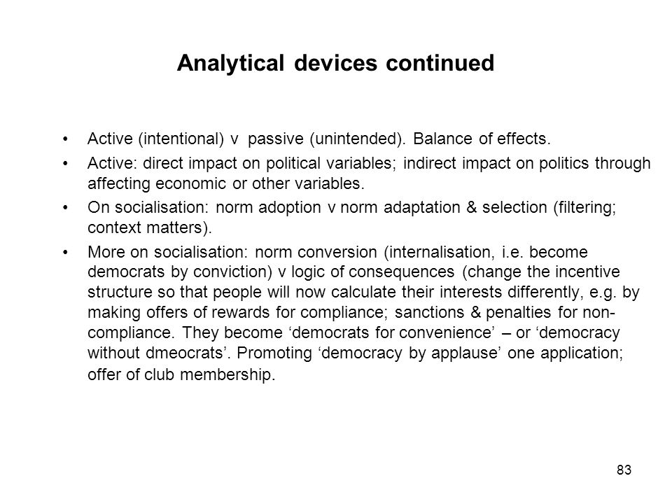 Analytical devices continued