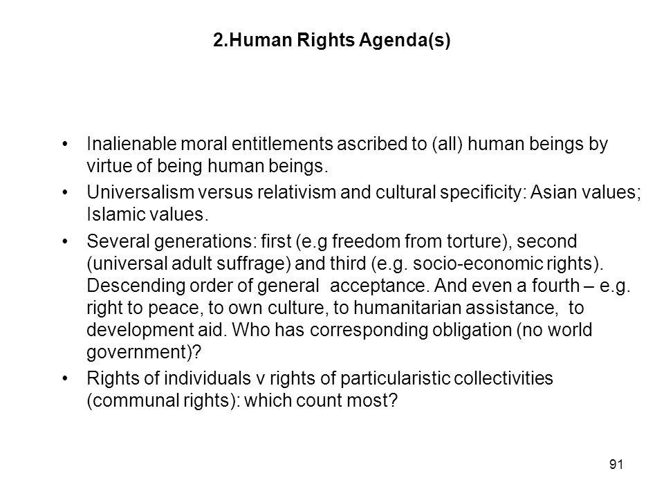 2.Human Rights Agenda(s)
