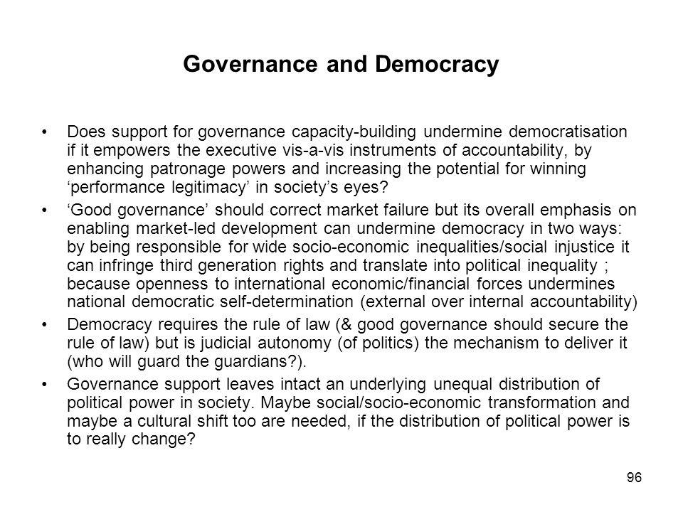 Governance and Democracy