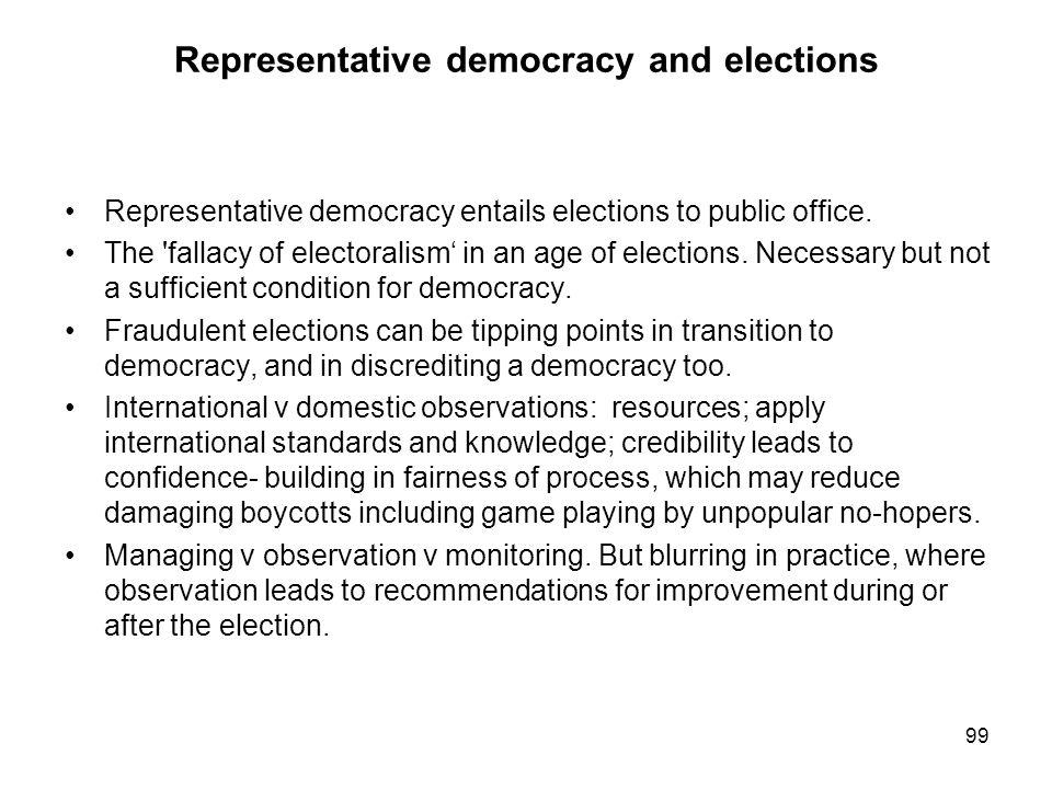 Representative democracy and elections