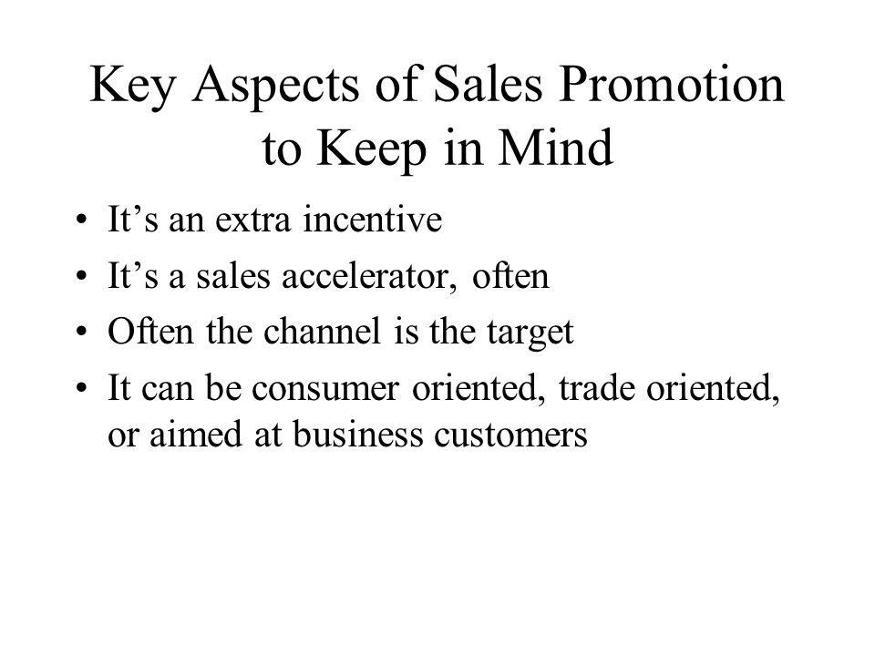 Key Aspects of Sales Promotion to Keep in Mind