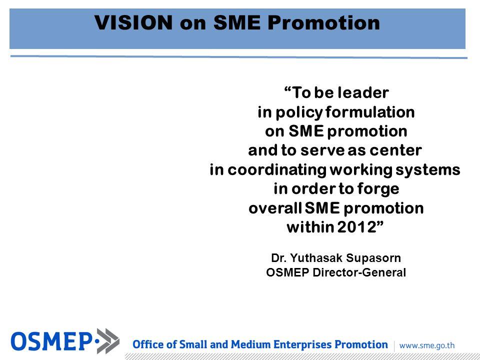 VISION on SME Promotion