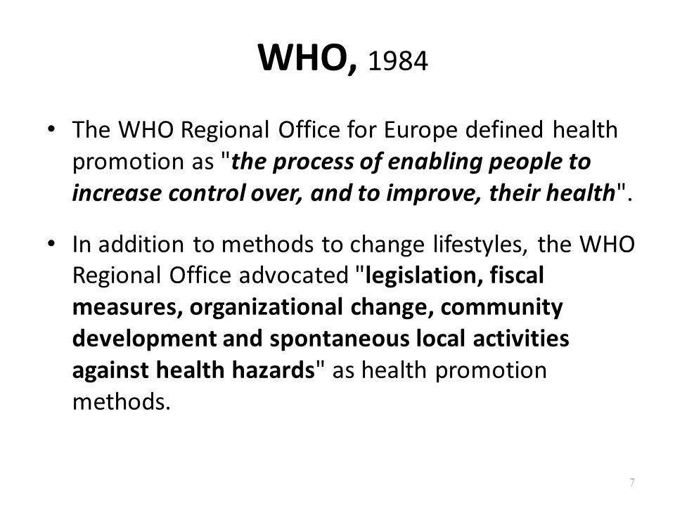WHO, 1984