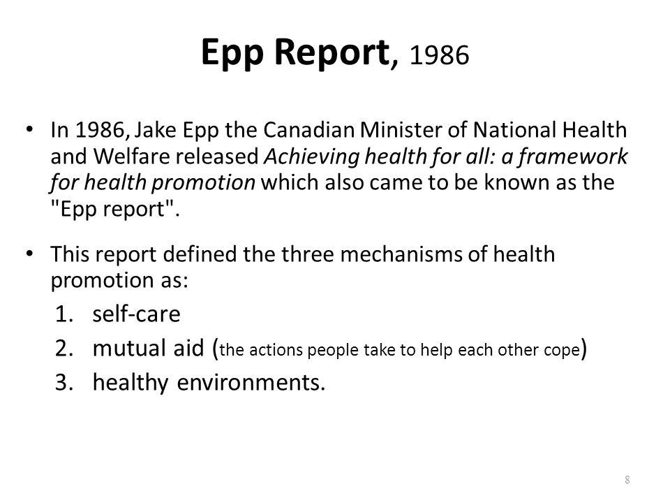 Epp Report, 1986