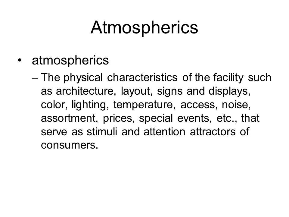 Atmospherics atmospherics