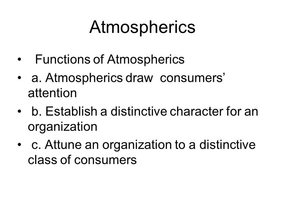 Atmospherics Functions of Atmospherics