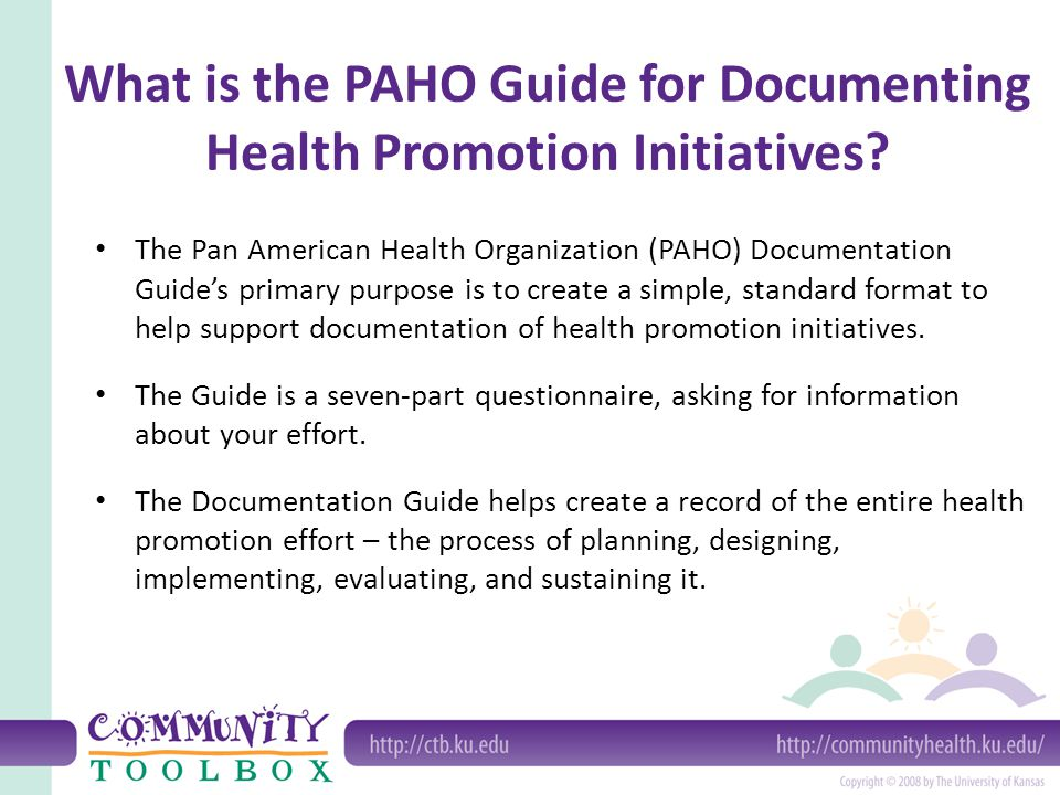 What is the PAHO Guide for Documenting Health Promotion Initiatives