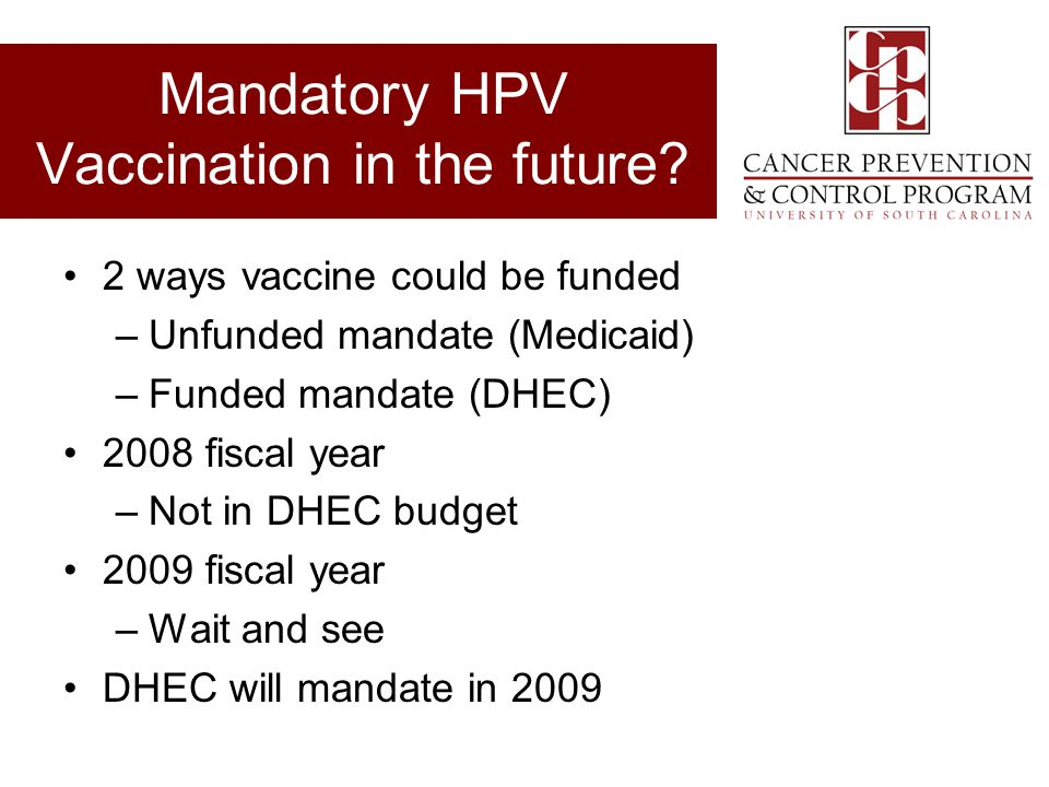 Mandatory HPV Vaccination in the future