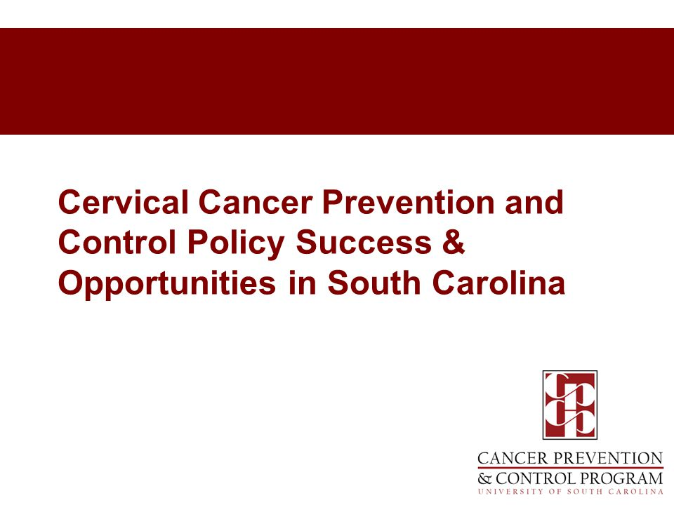 Cervical Cancer Prevention and Control Policy Success & Opportunities in South Carolina