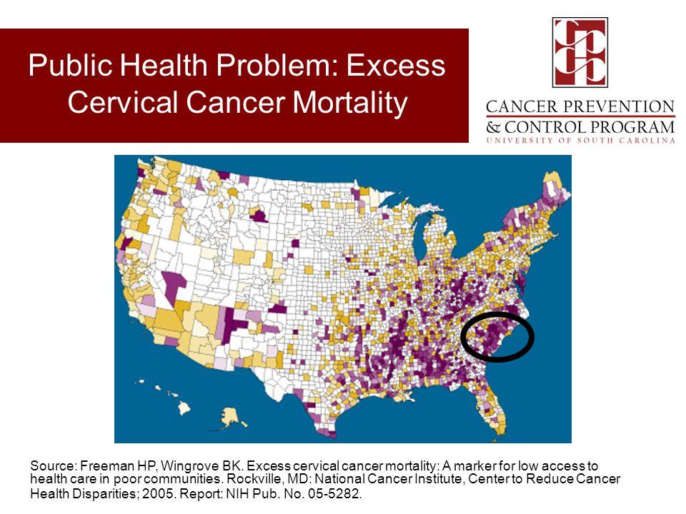 Public Health Problem: Excess Cervical Cancer Mortality