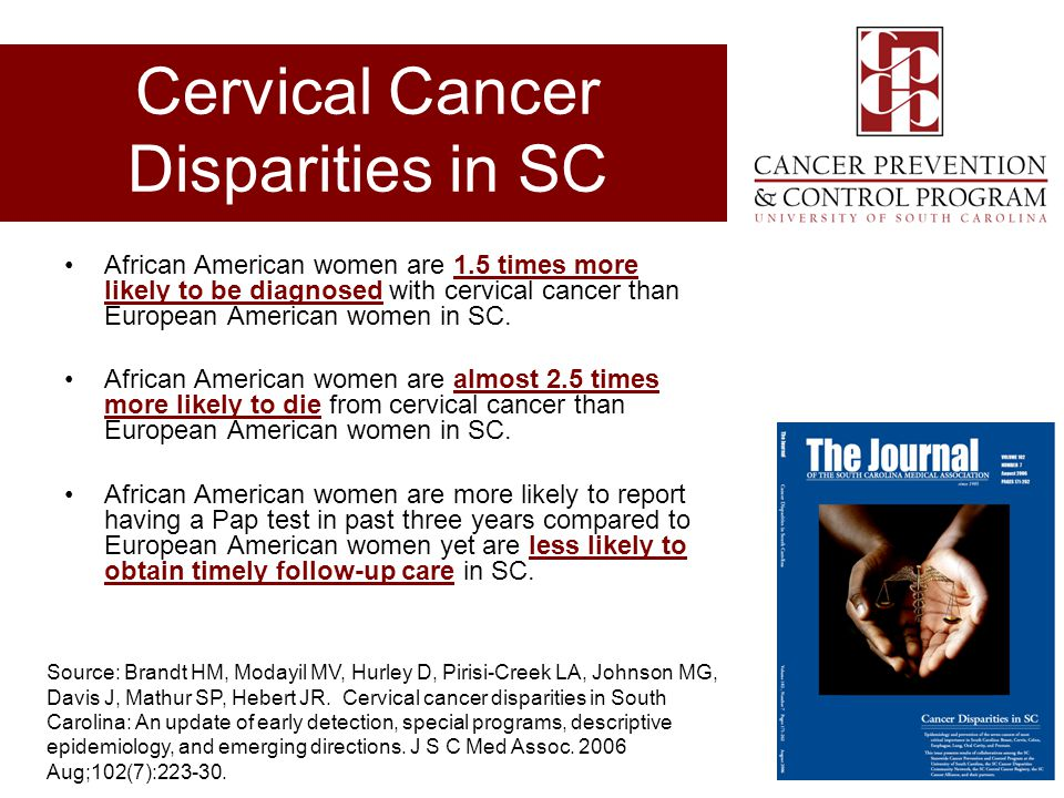 Cervical Cancer Disparities in SC