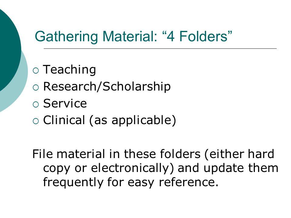 Gathering Material: 4 Folders