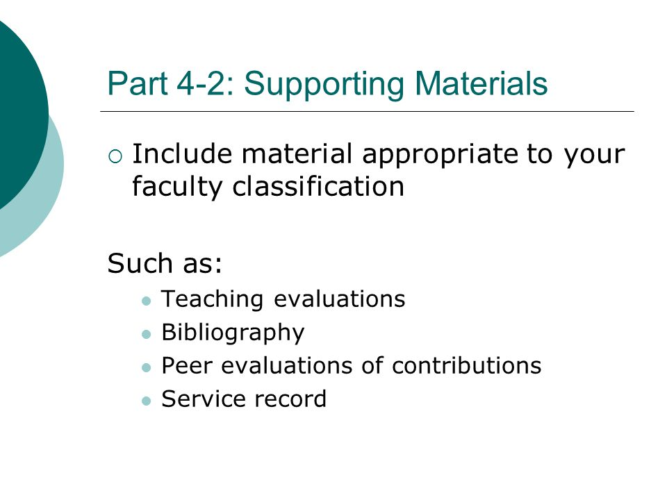 Part 4-2: Supporting Materials