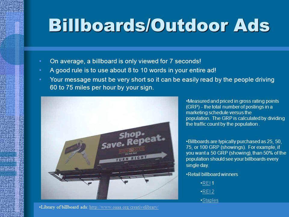 Billboards/Outdoor Ads