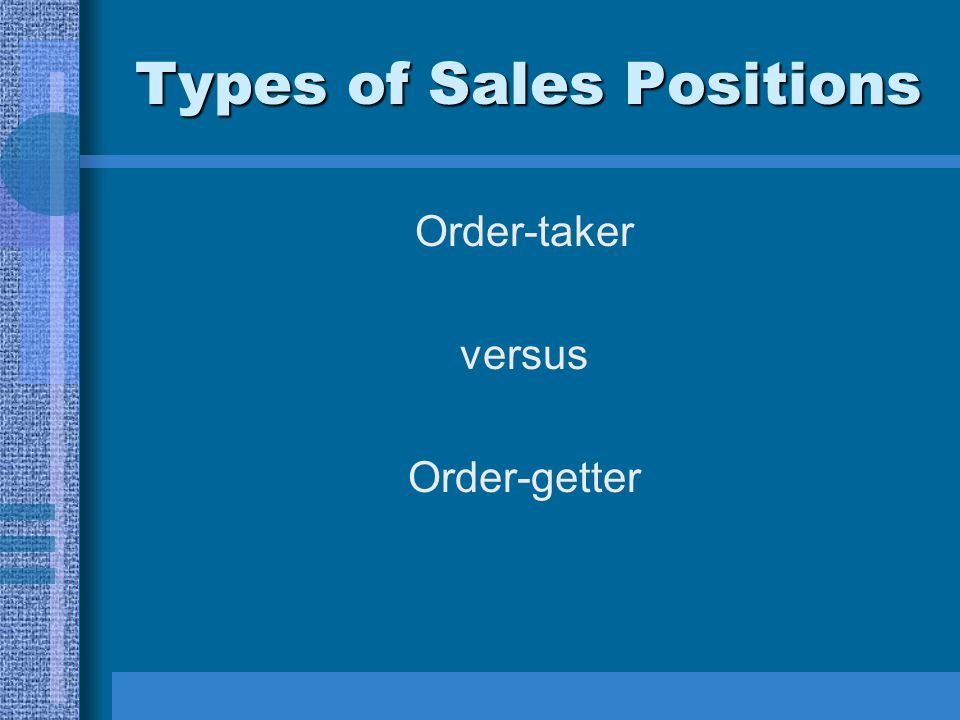Types of Sales Positions