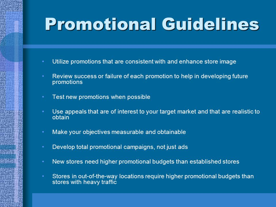 Promotional Guidelines