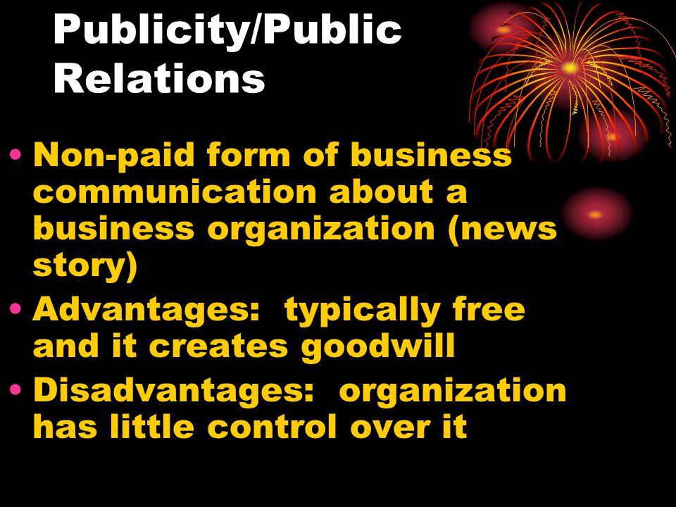 Publicity/Public Relations
