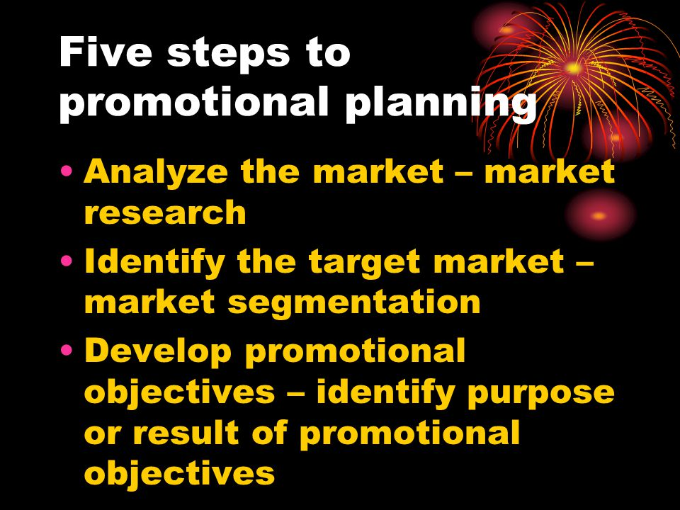 Five steps to promotional planning